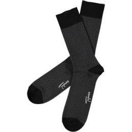 Topeco Strumpor Men Sock Mercerized Cotton Dots Svart Strl 41/45 Herr