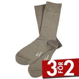Topeco Strumpor Men Sock Solid Bamboo Beige Strl 41/45 Herr