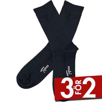 Topeco Strumpor Men Sock Solid Bamboo Marin Strl 41/45 Herr