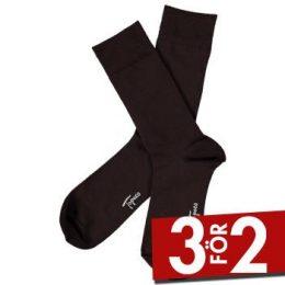 Topeco Strumpor Men Sock Solid Bamboo Mörkbrun Strl 41/45 Herr