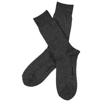 Topeco Strumpor Men Wool Rib Socks Mörkgrå Strl 41/45 Herr