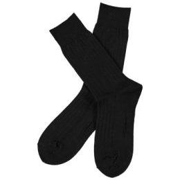 Topeco Strumpor Men Wool Rib Socks Svart Strl 41/45 Herr